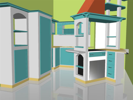 Gea studio di architettura e design for Progetto cucina in muratura